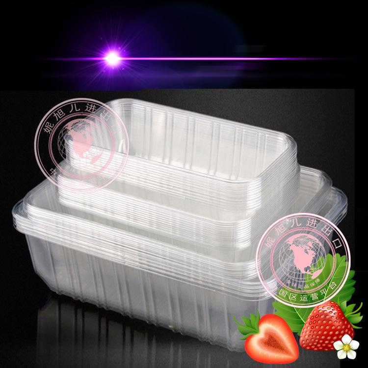 批发透明一次性塑料方形托盘包装盒超市生鲜食品水果蔬菜盘子