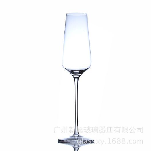定制香槟水晶杯 批发气泡酒杯 高脚甜酒杯 冷切口洋酒杯