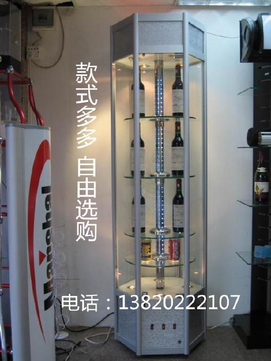 天津特价旋转灯光展示柜 家用货架 工艺品展柜 精品展示柜批发