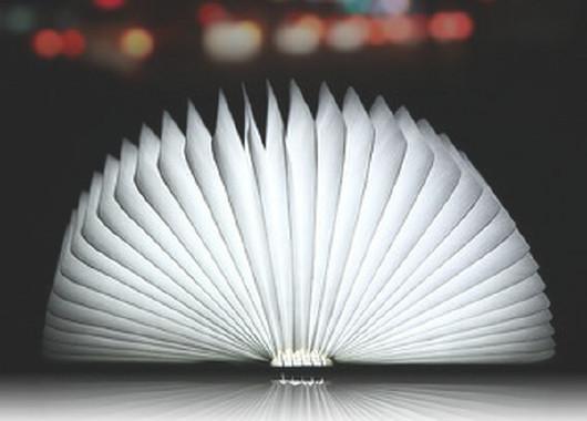 木制便携式led折纸书灯壁灯灯铬黄装饰书本bookligh107中台灯图片