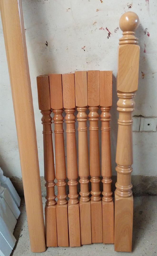 定制室内欧式中式板块木栏杆扶手楼梯楼梯实成都别墅别墅区图片