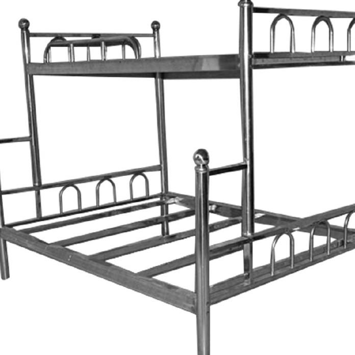 不銹鋼雙層子母床 部隊學校上下床 不銹鋼現代中式優質雙人床