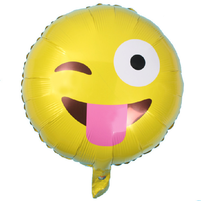 新品emoji表情铝膜表情调皮a新品飞吻表情铝艾特错了气球包图片