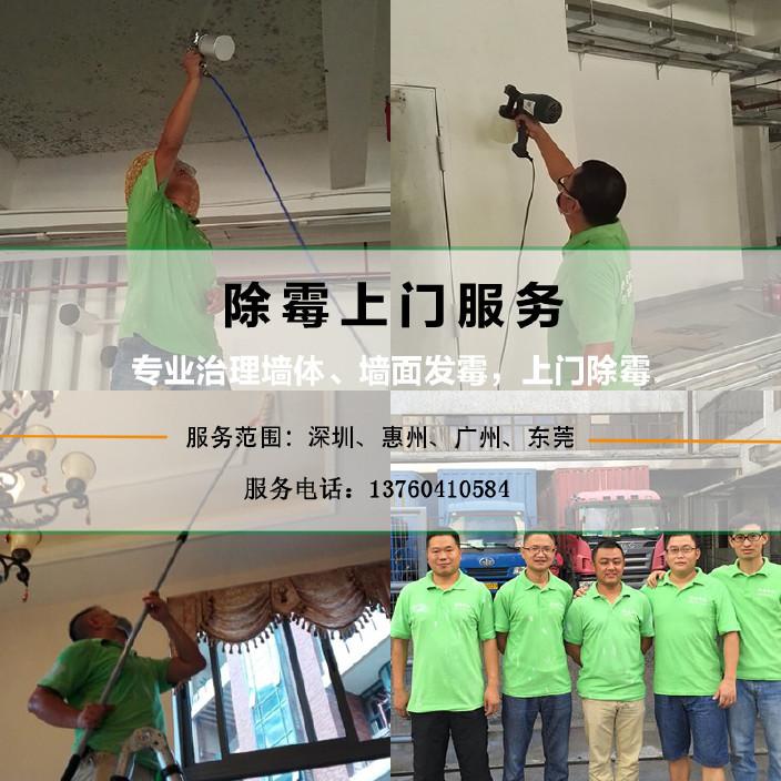 深圳东莞惠州上门除霉服务墙面墙体霉菌清除剂天花板除霉菌施工图片