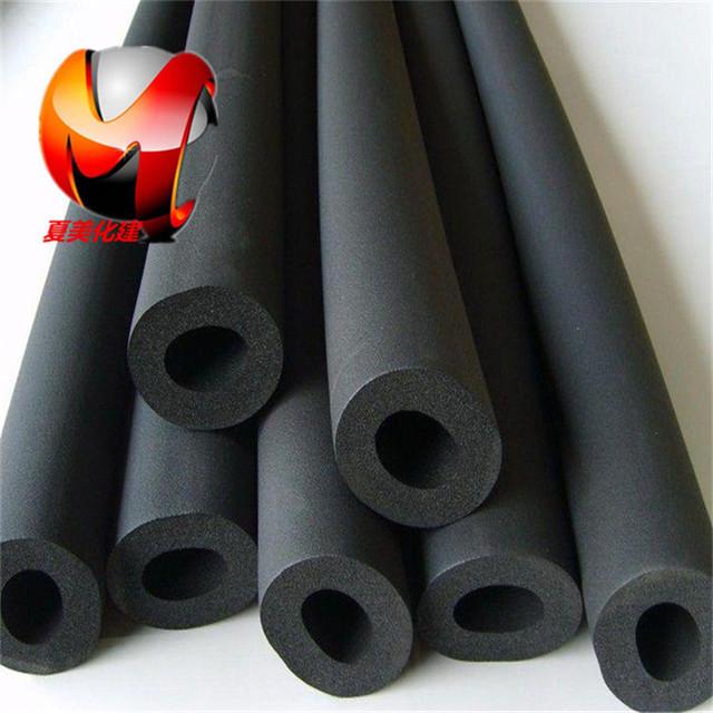 橡塑保温管生产厂家 橡塑管密度 黑色阻燃橡塑海绵管 型号齐全