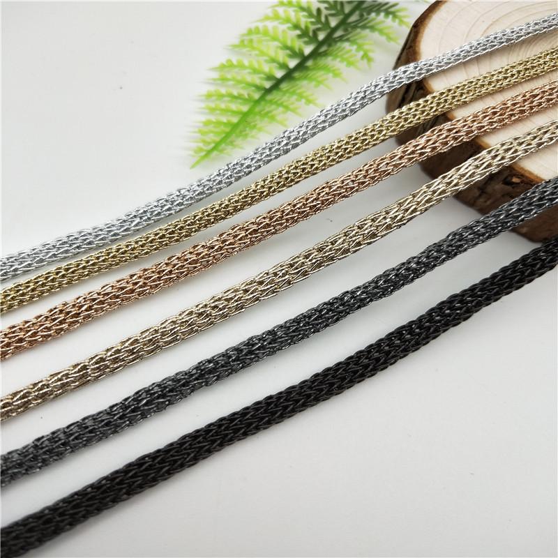 热销5mm金银线钩针绳现货 礼品手提绳 饰品玩具挂绳 可按要求定做图片