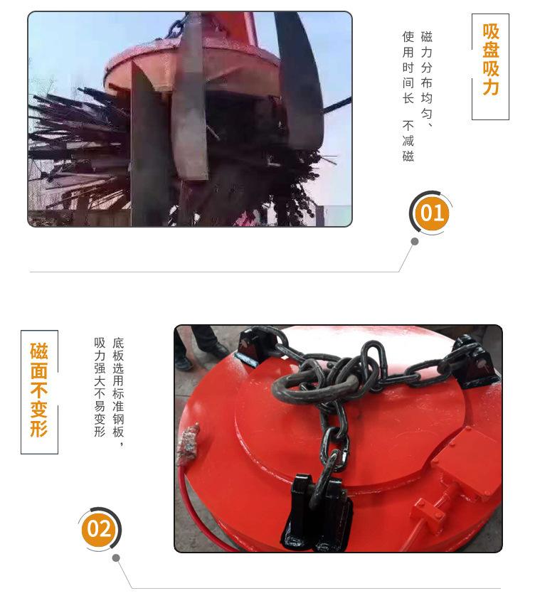 厂家直销起重电磁吸盘 1.2米强磁起重电磁铁吸盘鑫运起重电磁吸盘示例图11