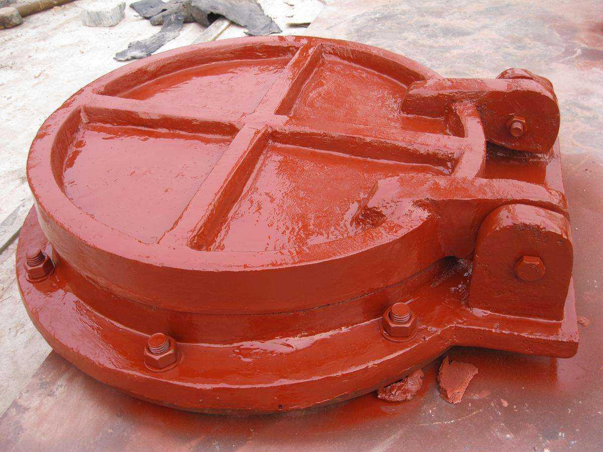 河南铸铁圆拍门 方形铸铁拍门 玻璃钢拍门 优质供应商示例图2