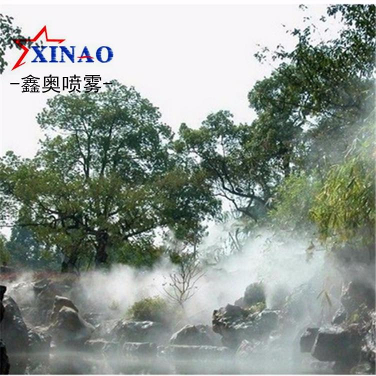 農莊湖面河邊噴霧造景設備 草坪噴霧加濕人造霧裝置 噴霧機圖片