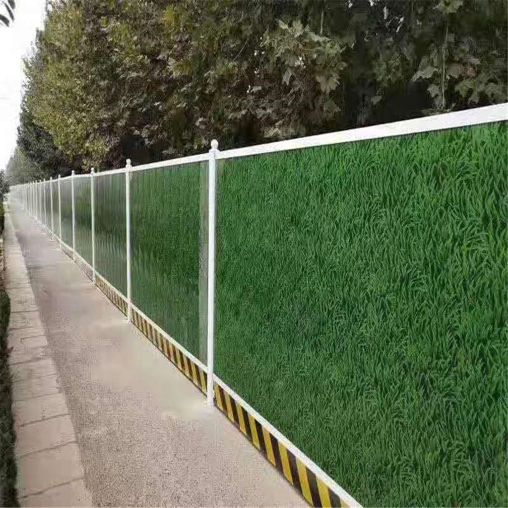 現貨供應PVC草坪護欄 道路綠化帶鋅鋼隔離護欄 景區公園草坪花池護欄 庭院塑鋼圍欄河南廠家圖片