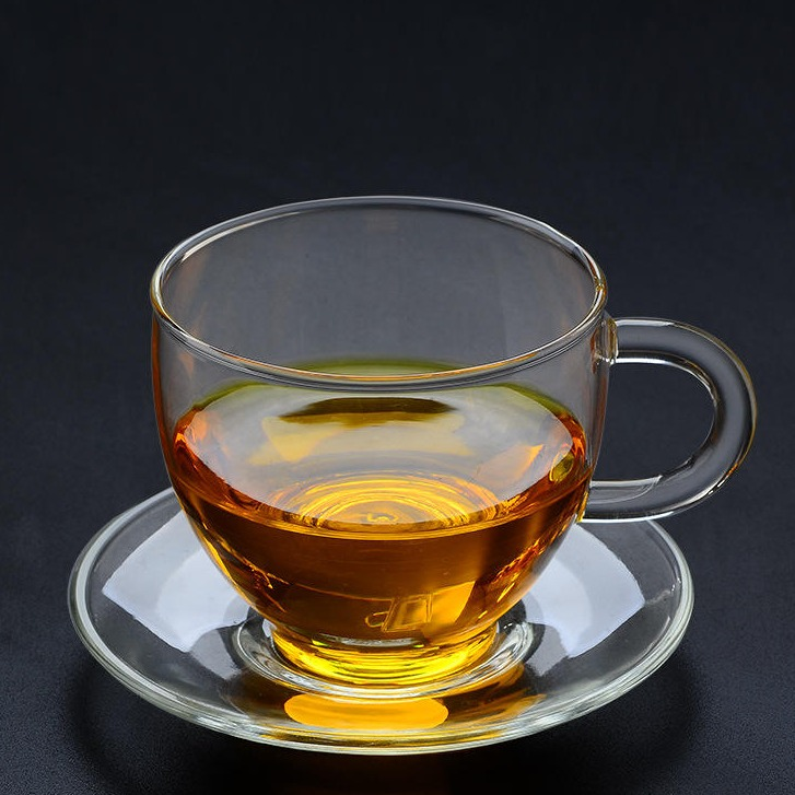 加厚耐热透明带把玻璃杯子 花茶杯水杯功夫小茶杯品茗杯 小咖啡杯 功夫茶具