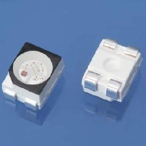 全彩led 3528rgb灯珠黑面/白面led贴片光源图片