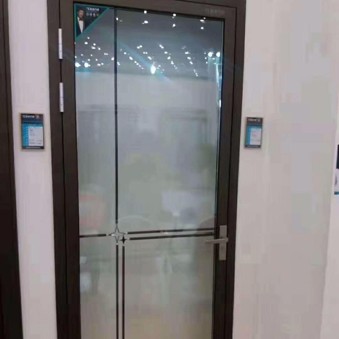 新款窄边框玻璃移门 推拉门 平开门家 室内合金门