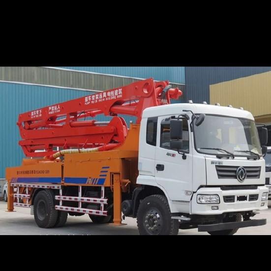 混凝土泵车参数 新款34米混凝土输送泵车价格 臂架式泵车厂家直销图片
