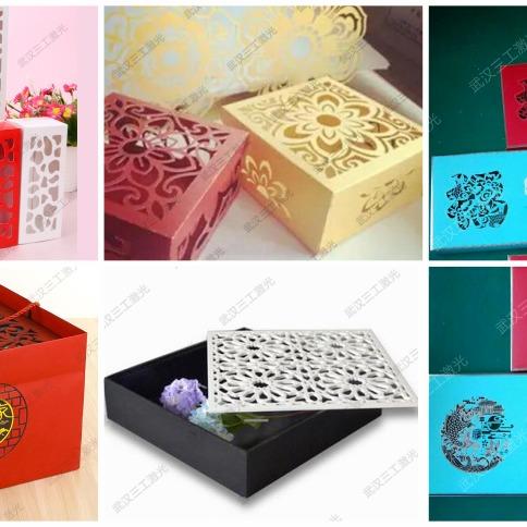 彩盒激光模切机 包装礼盒镂空图案激光切割机无需模板更精美