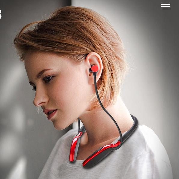 道祺/DODGE 入耳式無線藍牙耳機 運動掛脖頸掛式跑步禮品耳機 可插內存卡 雙耳金屬磁吸蘋果華為小米通用耳麥erji
