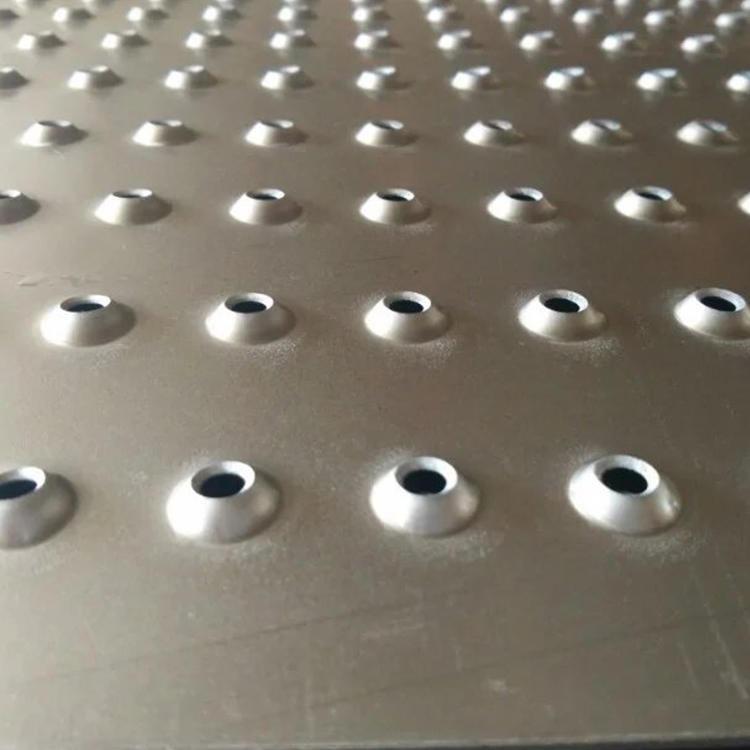 圓孔防滑板 膠州市圓孔防滑板  熱鍍鋅圓孔防滑板廠家