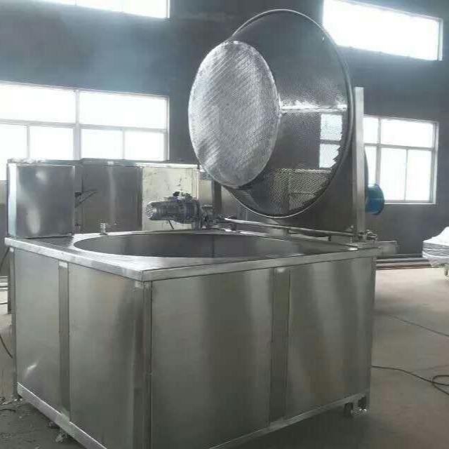 黃金豆油炸機 豌豆黃豆油炸設備 電加熱油炸鍋 自動控溫自動出料油炸機
