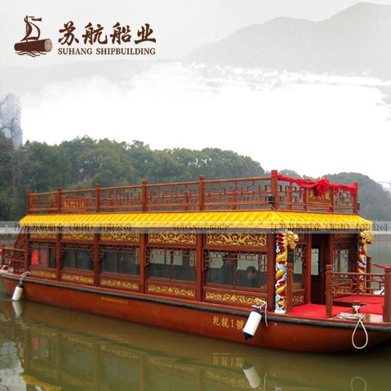 景區旅游船可以制造 古代畫舫船生產廠家