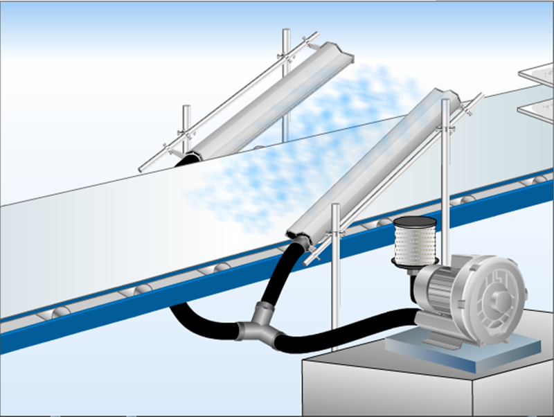 高精密铝合金风刀水滴式铝合金风刀玻璃吹水吹干专用风刀示例图7