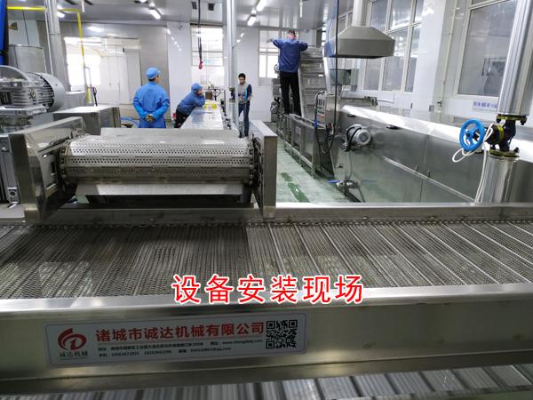 诸城市诚达豆腐干设备,QQ豆干设备机器,QQ豆干烘干设备示例图5