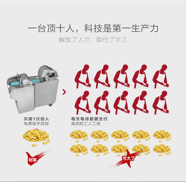 不锈钢多功能电动切菜机胡萝卜土豆切块机切丁机示例图10