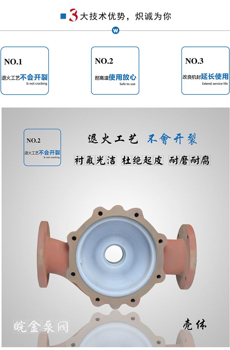 氟塑料管道泵GDF型 防腐蝕耐酸堿立式化工泵 襯四氟離心工業增壓泵示例圖12
