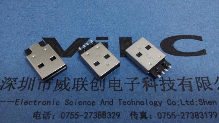 A公短体焊线式USB(普通AM USB短体焊线式插头)焊线式USB公头示例图3