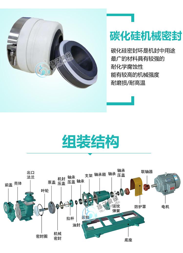 80FZB-45L氟塑料自吸泵 高温衬氟自吸泵 耐腐蚀耐酸碱衬塑自吸泵示例图9