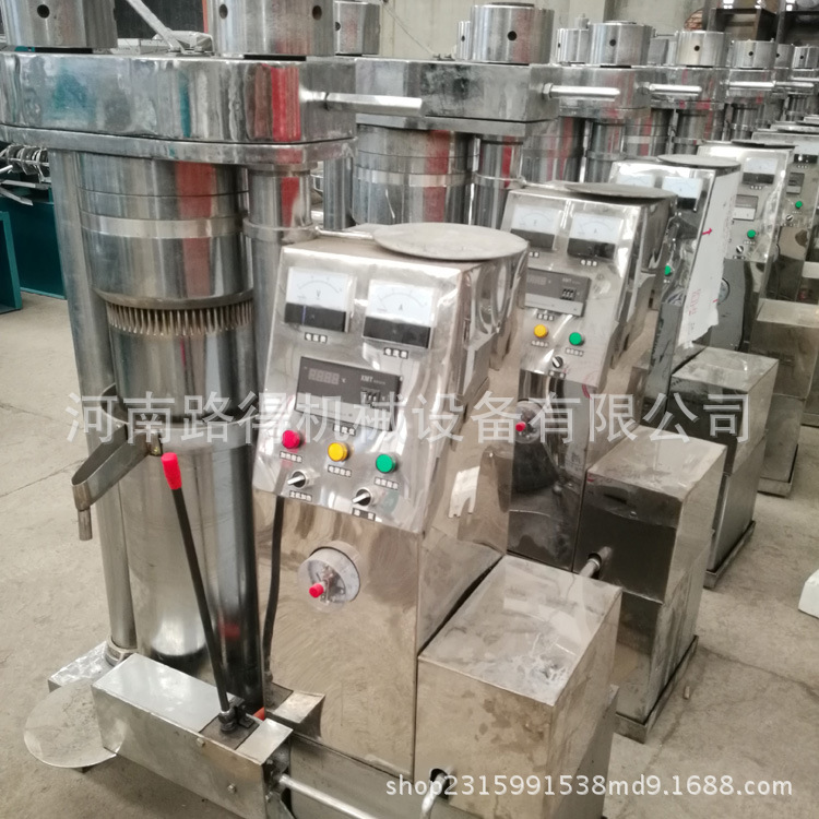 液压榨油机小型全自动家用榨芝麻香油机油坊商用多功能芝麻压油机示例图10