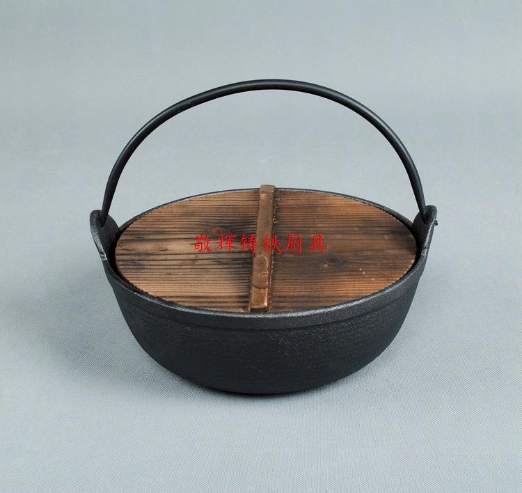 日式寿喜锅铸铁汤煲手工铸造炖锅汤锅炖煲老式日本锅鑄鐵鍋定做示例图2