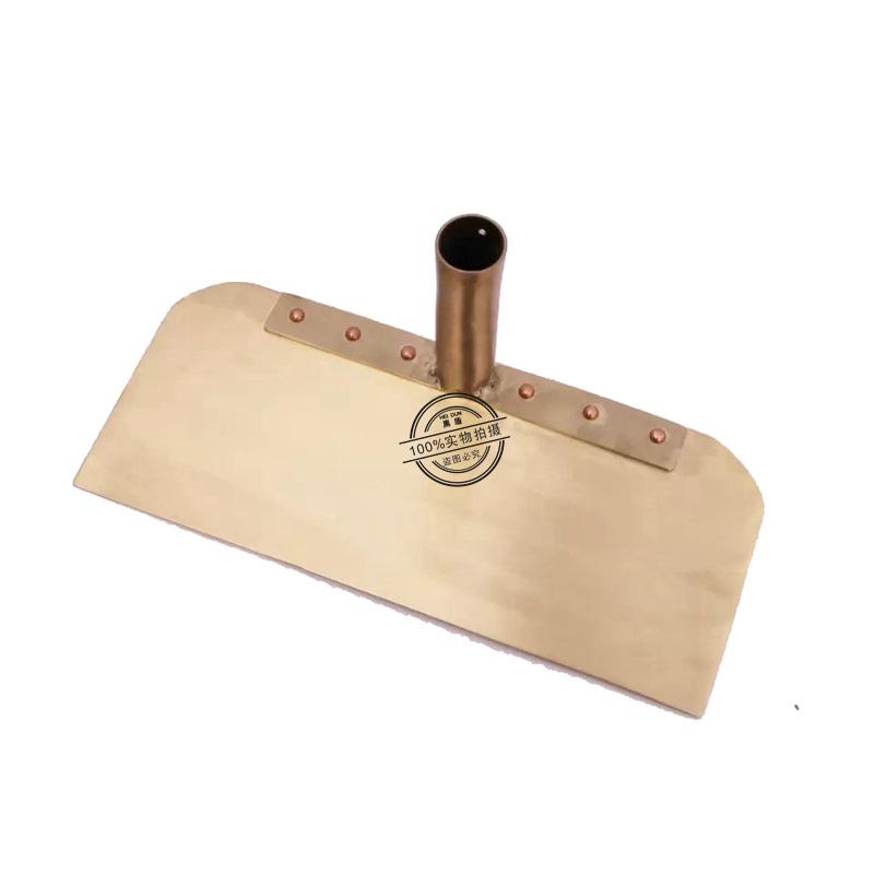 防爆半月刮板 供應無火花銅合金制耙子木柄無齒銅刮耙帶柄示例圖3