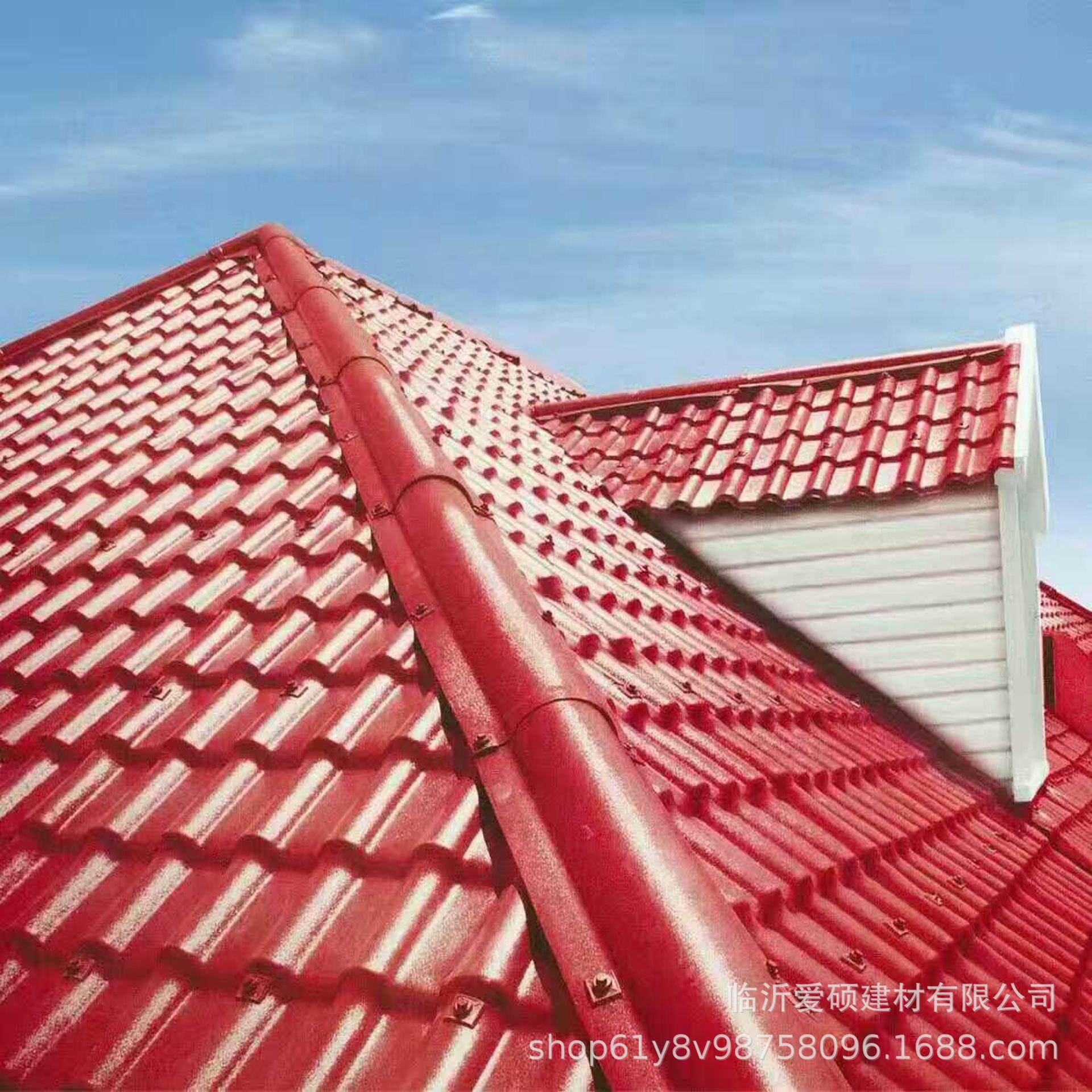廠家直銷 東營合成樹脂瓦 平改坡裝飾瓦 屋頂瓦 別墅瓦示例圖2