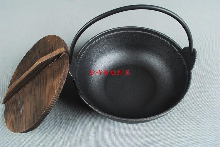 日式寿喜锅铸铁汤煲手工铸造炖锅汤锅炖煲老式日本锅鑄鐵鍋定做示例图4