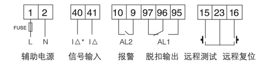 通讯铁塔用过欠压保护器    智能剩余电流继电器   安科瑞ASJ20-LD1A    双继电器输出  1路A型剩余电流示例图7