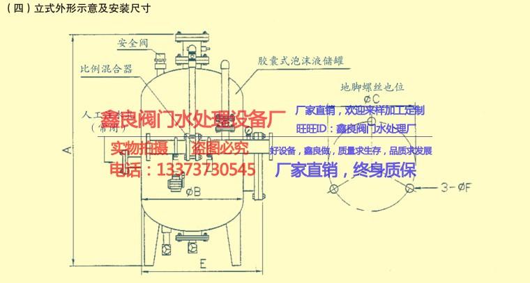 压力储罐式泡沫比例混合器 消防立式泡沫罐pgnl 移动式泡沫液储罐示例图6