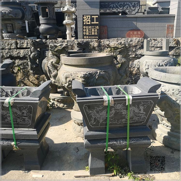 厂家批发 石雕香炉 龙图案香炉 寺庙香炉 墓地香炉厂家直销示例图12