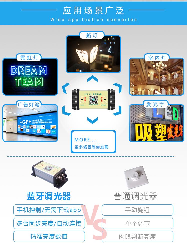 ,蓝牙调光器,手机控制,LED调光器示例图3