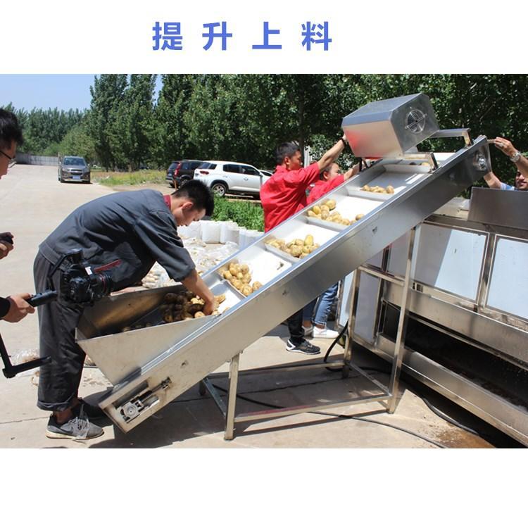 利杰LJ-5000速冻薯条油炸流水线/利杰自动刮渣不锈钢薯条成套油炸流水线示例图2