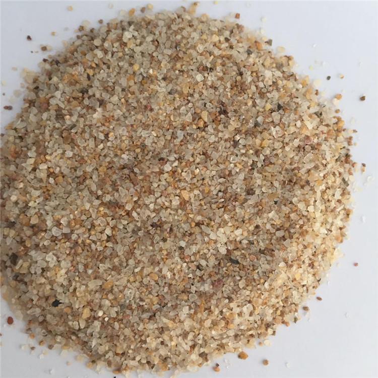 玄光生产普通黄色石英砂 黄色10-20目除锈石英砂 石英粉 量大优惠示例图12