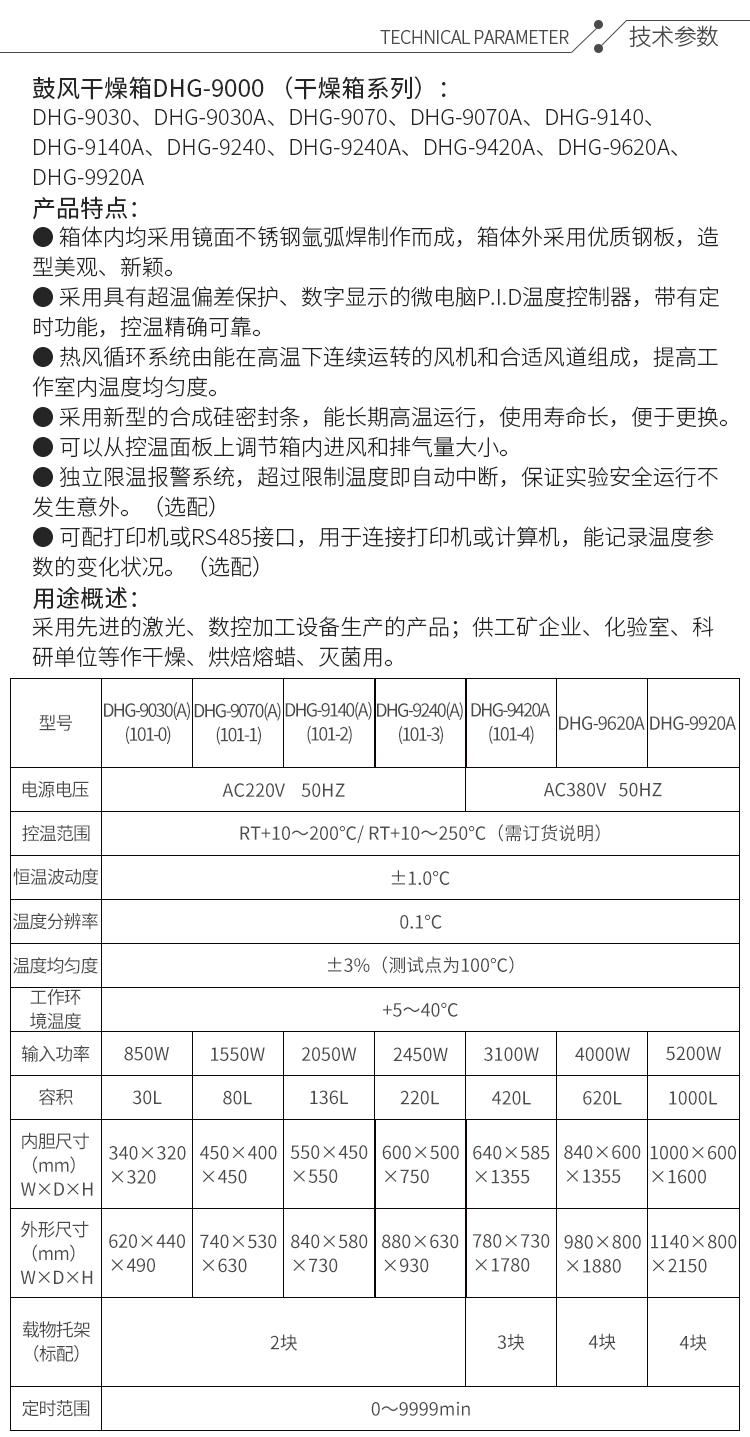 上海泓冠 DHG-9023A 实验室鼓风干燥箱  烘箱 干燥箱 恒温干燥箱示例图1