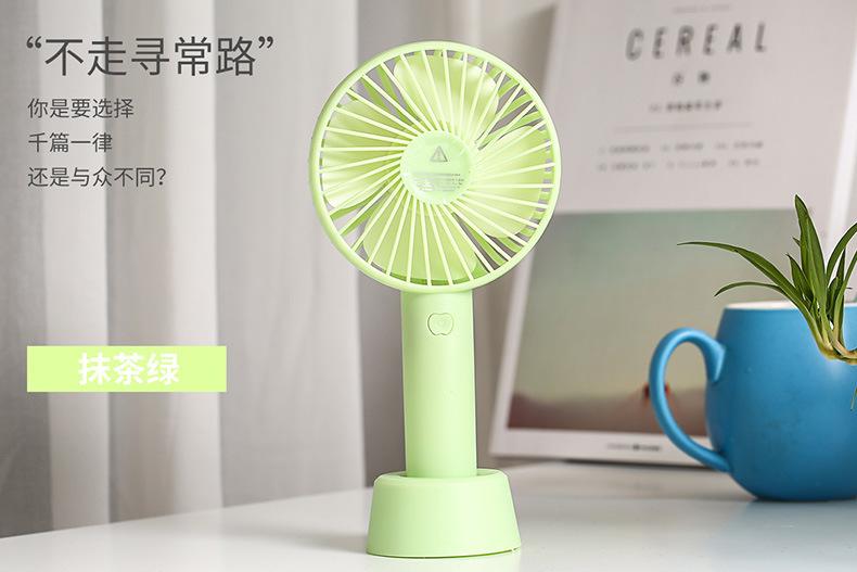 厂家直销夏季手动迷你风扇静音大风力便携学生USB手持风扇充电款示例图5