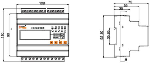 安科瑞ADL3000导轨式多功能仪表示例图2