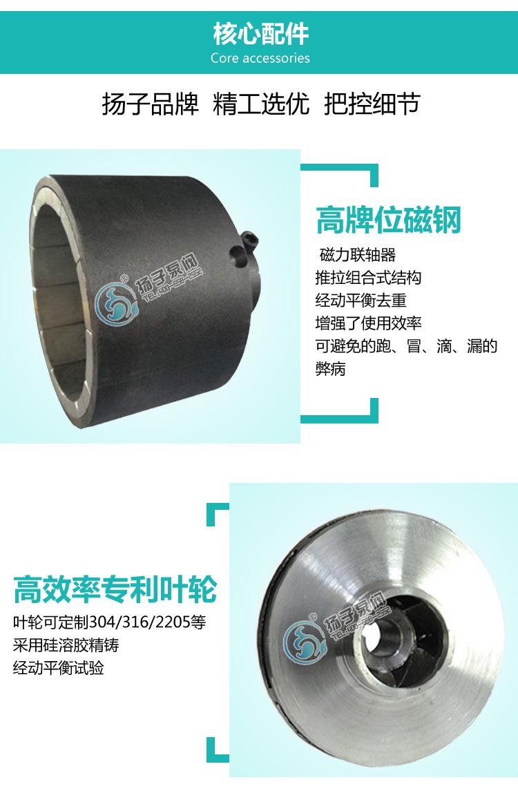 CQB重型不锈钢磁力泵 大流量 高扬程 防爆型零泄露化工泵厂家直销示例图7