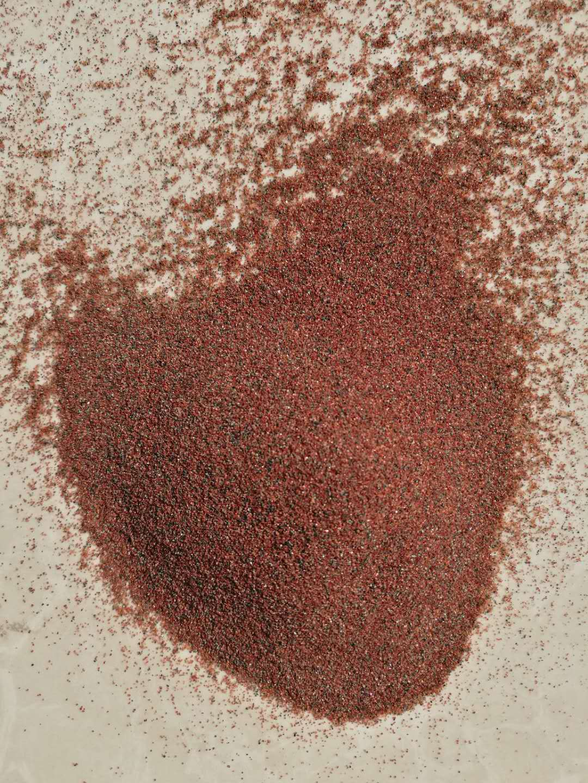 厂家红色石榴石砂,陶瓷石材水切割专用水刀砂示例图2
