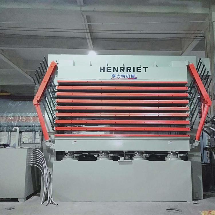 亨力特hlt3248-600t三聚氰氨貼面熱壓機,木工家具貼面熱壓機,生態板貼面熱壓機,尺寸非標可以定制示例圖9