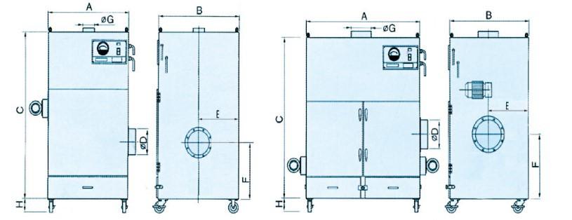 卡艾环境工业集尘设备 脉冲布袋除尘器 车间除尘设备  集尘设备示例图5