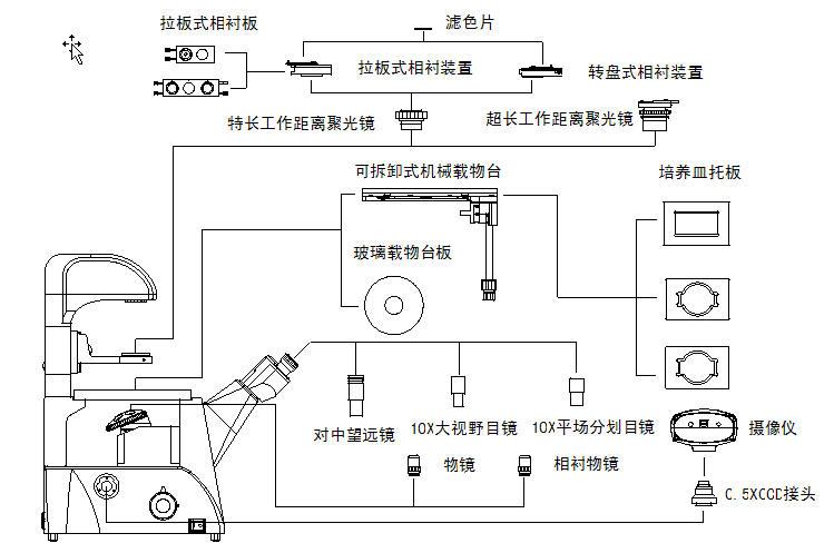 北京显微镜代理  XDS-3 倒置生物显微镜  倒置显微镜 供应报价示例图10