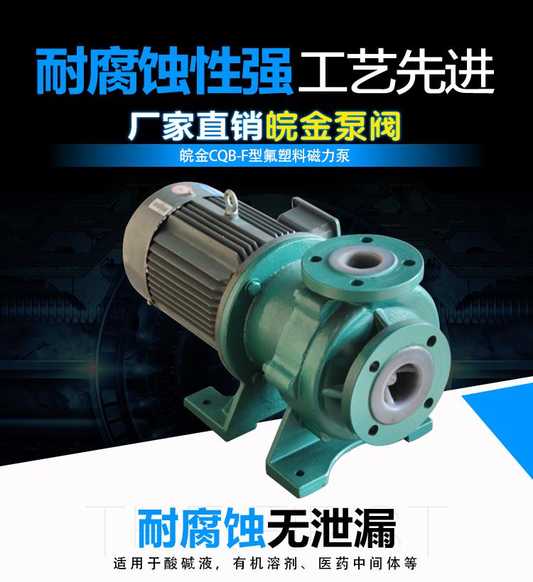 CQB-FJ氟塑料磁力泵,防腐蝕耐酸堿磁力驅動泵,襯氟高溫磁力泵,磁力離心泵示例圖2