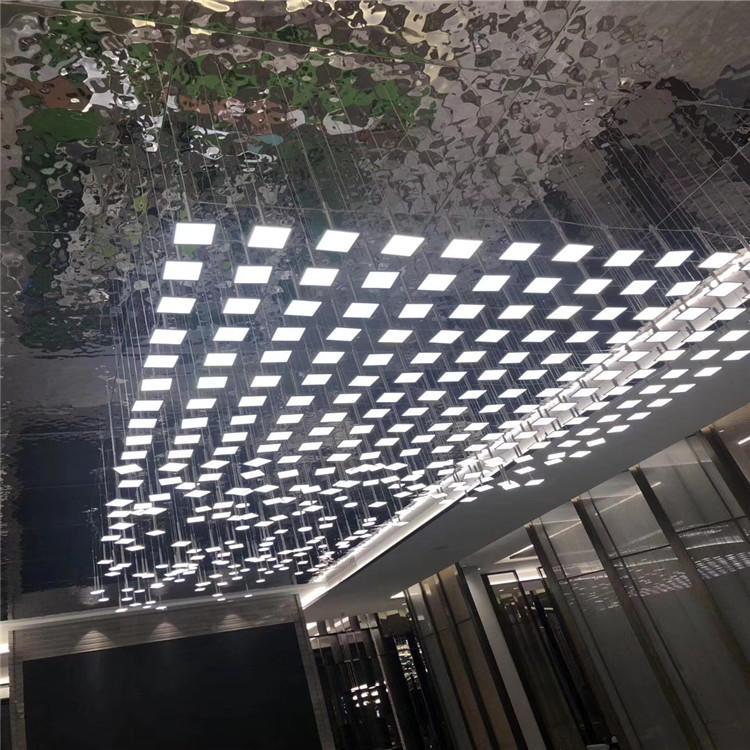 水波纹不锈钢板 3D立体蜂窝 镜面水波纹不锈钢板 天花装饰水波纹示例图8